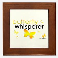 Butterfly Whisperer Framed Tile