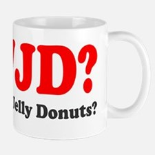 WWJD Who Wants Jelly Donuts Mug