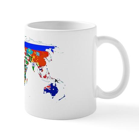 World map by flags Mug
