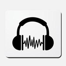 Headphones Frequency DJ Mousepad