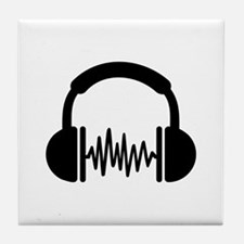 Headphones Frequency DJ Tile Coaster