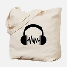 Headphones Frequency DJ Tote Bag