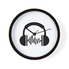 Headphones Frequency DJ Wall Clock