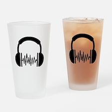 Headphones Frequency DJ Drinking Glass