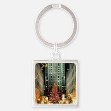 New York City Square Keychain