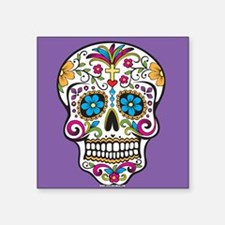 Sugar Skull Halloween Purple Sticker