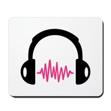 Headphones Frequency Pulse Mousepad