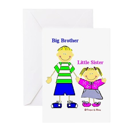 Big Brother Little Sister Greeting Cards (Package