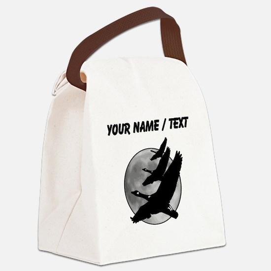 Custom Canadian Geese Canvas Lunch Bag