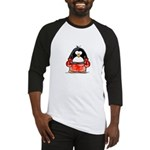Red Boxing Penguin Baseball Jersey