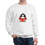 Red Boxing Penguin Sweatshirt
