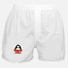Red Boxing Penguin Boxer Shorts