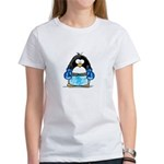 Blue Boxing Penguin Women's T-Shirt