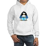 Blue Boxing Penguin Hooded Sweatshirt