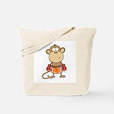 Boxing Monkey Tote Bag