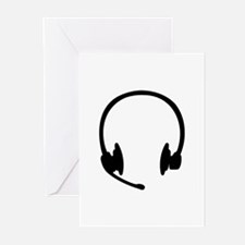 Headset headphones Greeting Cards (Pk of 10)
