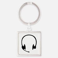 Headset headphones Square Keychain
