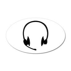 Headset headphones Wall Decal