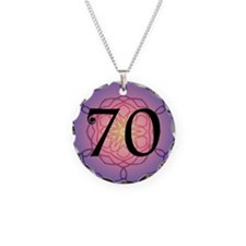 70th Birthday Party For Her Necklace Circle Charm
