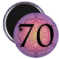 """70th Birthday Party For Her 2.25"""" Magnet (10 pack)"""