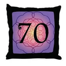 70th Birthday Party For Her Throw Pillow