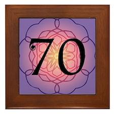 70th Birthday Party For Her Framed Tile