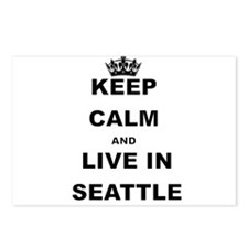 KEEP CALM AND LIVE IN SEATTLE Postcards (Package o