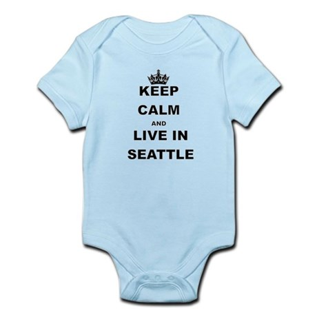 KEEP CALM AND LIVE IN SEATTLE Body Suit