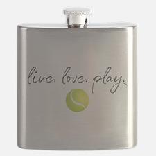 Live Love Play Tennis Flask