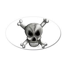 Skull Bones Wall Decal