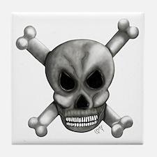 Skull Bones Tile Coaster