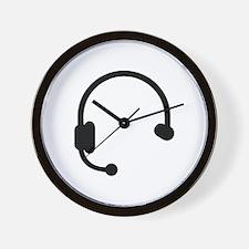 Headset headphones telephone Wall Clock