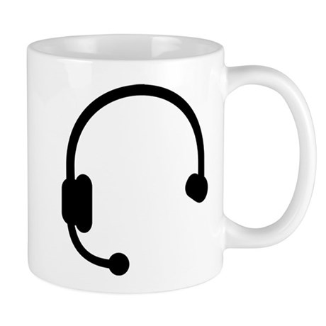 Headset headphones telephone Mug