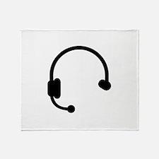 Headset headphones telephone Throw Blanket