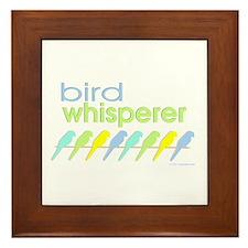 bird whisperer Framed Tile