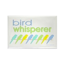 bird whisperer Rectangle Magnet