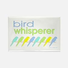 bird whisperer Rectangle Magnet