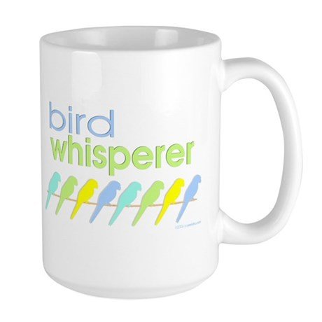 bird whisperer Large Mug