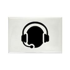 Headset call center Rectangle Magnet