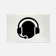 Headset call center Rectangle Magnet