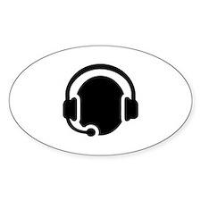 Headset call center Decal