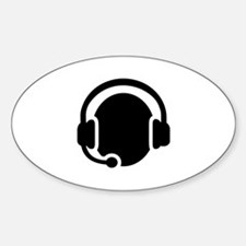Headset call center Decal