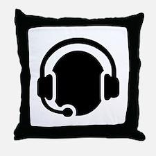 Headset call center Throw Pillow