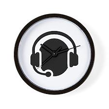Headset call center Wall Clock