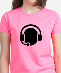 Headset call center Tee