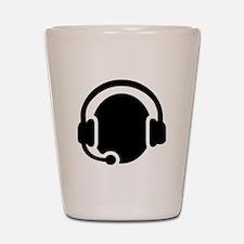 Headset call center Shot Glass
