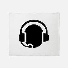 Headset call center Throw Blanket