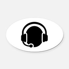 Headset call center Oval Car Magnet