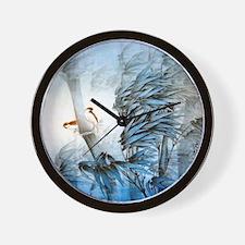 Vintage Oriental Art Wall Clock