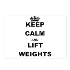KEEP CALM AND LIFT WEIGHTS Postcards (Package of 8